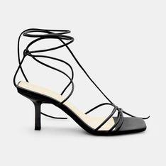 Mohito - Wiązane sandały na obcasie - Czarny