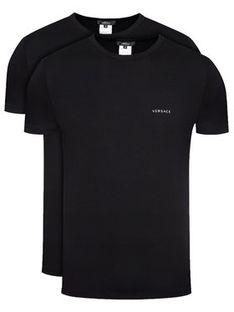 Versace Komplet 2 t-shirtów Intimo AU04023 Czarny Slim Fit