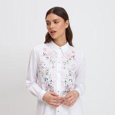 Mohito - Koszula z kwiatowym haftem - Biały