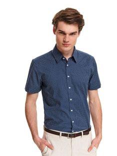 Koszula wzorzysta o luźnym kroju