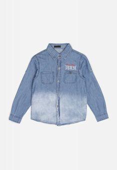 Niebieska Jeansowa Koszula Kimra