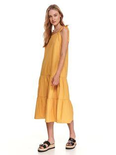 Sukienka midi z wiązanymi ramiączkami