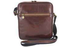 Męska torba CASUAL z regulowanym paskiem - Brązowa