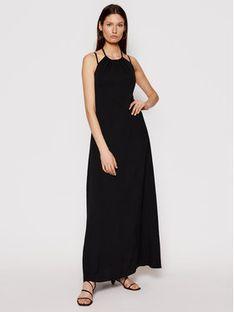 Trussardi Sukienka letnia Soft 56D00519 Czarny Relaxed Fit
