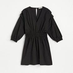 Reserved - Sukienka z technicznej dzianiny - Czarny