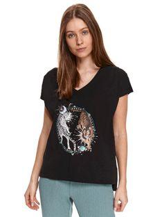 T-shirt z nadrukiem w tygrysy