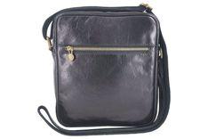 Męska torba CASUAL z regulowanym paskiem - Czarna