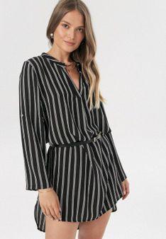 Czarno-Biała Sukienka Lironis