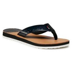 Japonki TOMMY JEANS - Iridescent Beach Sandal EN0EN01298 Black BDS