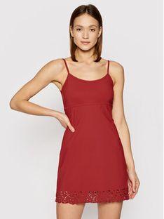Banana Moon Sukienka plażowa Alzette Huawei X2373 Czerwony Regular Fit