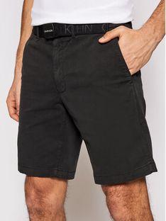 Calvin Klein Szorty materiałowe K10K107164 Czarny Slim Fit