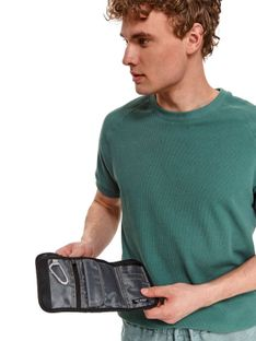 Materiałowy portfel na rzep