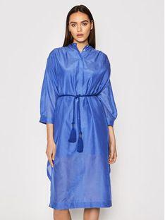 Marella Sukienka koszulowa Parodia 32211412 Niebieski Relaxed Fit