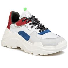 Sneakersy GOE - FF1N3033 White/Red