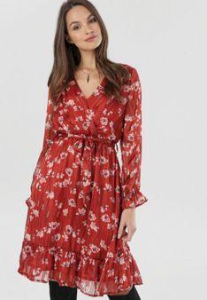 Bordowa Sukienka Zarintora