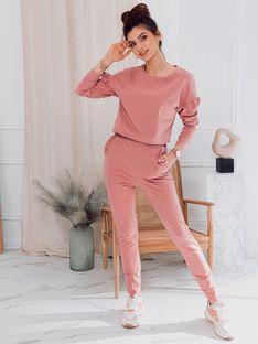 Komplet damski bluza + spodnie 005ZLR - różowy