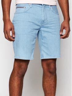 Tommy Hilfiger Szorty jeansowe Brooklyn MW0MW18031 Niebieski Regular Fit