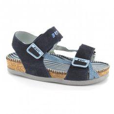Sandały Bartek T-46674/j31, Dla Dziewcząt, Granatowy
