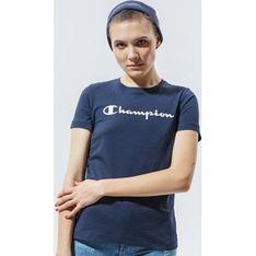 Bluzka damska granatowa Champion z napisem z okrągłym dekoltem