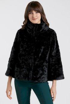 Elegancka kurtka z imitacji futerka