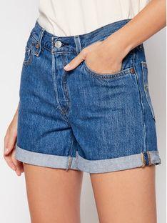 Levi's® Szorty jeansowe 501® Flat Finish 29961-0021 Granatowy Regular Fit