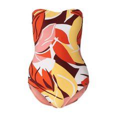 Kostium kąpielowy bandażowy z abstrakcyjnym wzorem