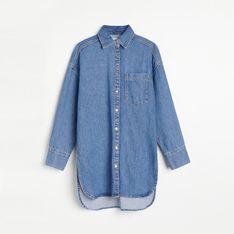 Reserved - Długa jeansowa koszula - Niebieski
