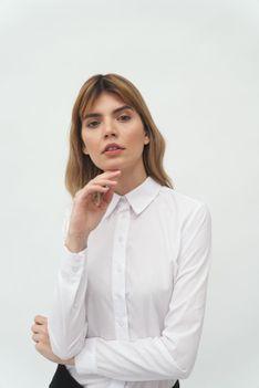 Klasyczna Koszula z Kołnierzykiem - Biała