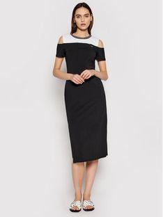 Liu Jo Sport Sukienka codzienna TA1030 J5756 Czarny Regular Fit