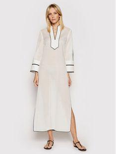 Tory Burch Sukienka plażowa Color-Blocked 84553 Biały Regular Fit