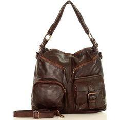 Shopper bag Mazzini lakierowana mieszcząca a7 ze skóry