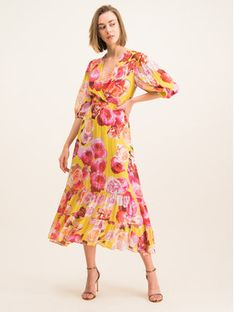 Pinko Sukienka letnia 20201 BLK01 1G14KD 7932 Kolorowy Regular Fit
