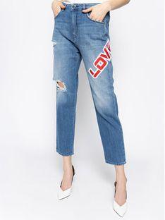 LOVE MOSCHINO Jeansy Regular Fit WQ38139T 9349 Niebieski Regular Fit