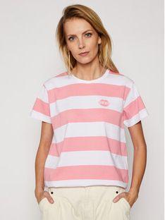 PLNY LALA T-Shirt Kiss My PL-KO-CL-00190 Różowy Classic Fit