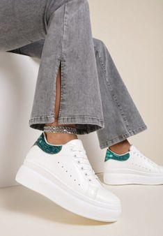 Biało-Zielone Sneakersy Moor