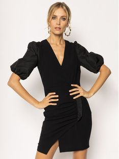 Pinko Sukienka koktajlowa Bardak 20201 PBK2 B14J1 8070 Z99 Czarny Regular Fit