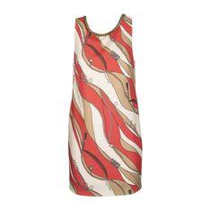 Boxy sukienka z nadrukiem foulard