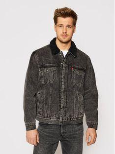 Levi's® Kurtka jeansowa Type 3 16365-0129 Czarny Regular Fit