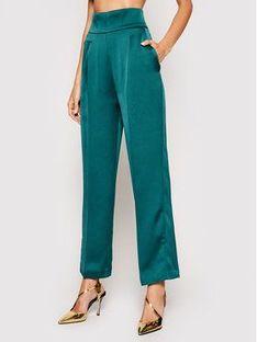 Pinko Spodnie materiałowe Sorriso PE21 PSPG 1N135C 8503 Zielony Straight Fit