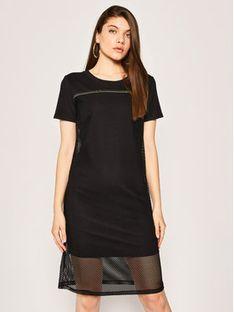 Liu Jo Sport Sukienka codzienna TA0069 J7898 Czarny Regular Fit