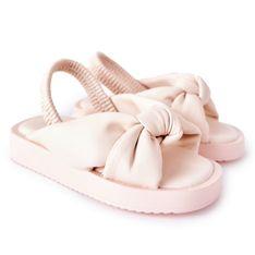 FR1 Dziecięce Sandały Ze Ściągaczem Różowe Bubble Gum