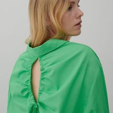 Reserved - Koszula z wiązaniem na plecach - Zielony