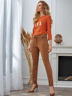 Casualowe spodnie z suwakami Red Button SRB2737 TESSY JOG