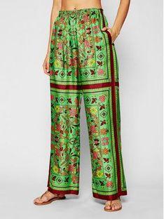 Tory Burch Spodnie materiałowe Silk Scarf 82610 Zielony Relaxed Fit