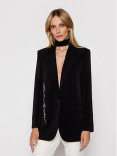KARL LAGERFELD Żakiet Tailored 211W1405 Czarny Straight Fit