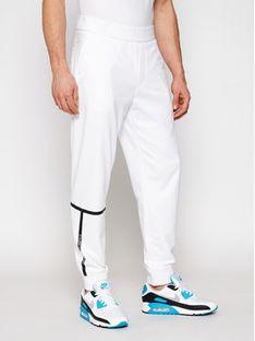 Armani Exchange Spodnie dresowe 3KZPFE ZJ9FZ 1100 Biały Regular Fit