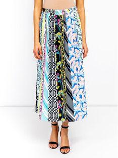 Silvian Heach Spódnica plisowana Skirt Hamadi CVP19021GO Kolorowy Regular Fit