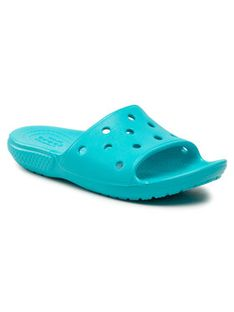 Crocs Klapki Classic Crocs Slide K 206396 Niebieski