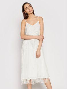 TwinSet Sukienka koktajlowa 211TT2620 Biały Regular Fit