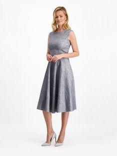 Rozkloszowana sukienka z dodatkiem lnu Lavard Woman 84955